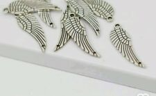 10 x Tibetan Silver Angel Wing Connector Charm 10x31mm  for Necklaces Bracelets