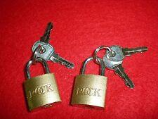 Padlock, Luggage Lock & keys, 2 piece,