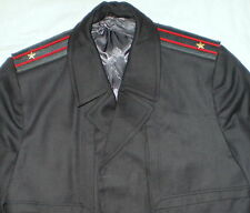 Russia Soviet Officer Army Cape Police Coat Military Uniform USSR Cloak XXL 52-5