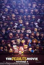 SNOOPY and CHARLIE BROWN The PEANUTS MOVIE POSTER DS ORIGINAL 27x40