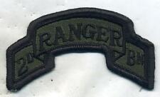 Vintage US Army 2nd Ranger Bn Patch OD Subdued