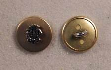 "Set of 10 JHB Gold & Silver Round Metal Buttons Crown 9/16"" 15 mm lyk045"
