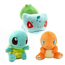 3pcs Pokemon Bulbasaur Charmander Squirtle Monster Stuffed Soft Plush Toy Doll