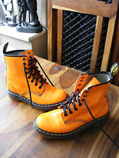 Orange Leather Ladies Womens Girls Dr Martens 1460 W Ankle Boots UK 4 EU 37 US 6