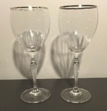 """ROYAL DOULTON OXFORD GOLD CRYSTAL 8 1/8""""  Wine glass pair READ!!"""