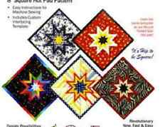 PLUM EASY FOLDED STAR HOT PAD Pattern Crafts Quilting 8 Inch Square Crafts, Quil
