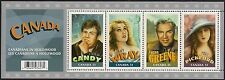 Canada Stamps -Souvenir Sheet -Canadians in Hollywood  #2153 -MNH