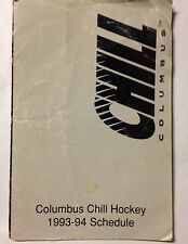 COLUMBUS CHILL HOCKEY 1993-1994 SEASON POCKET SCHEDULE (Columbus,Ohio)