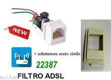 FILTRO ADSL RJ11 DA INCASSO FRUTTO PER BTICINO MAGIC AVORIO