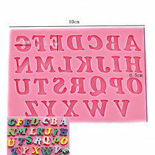 Silicone Alphabet Letter Chocolate Cookies Mold DIY Cake Fondant Decorating Tool