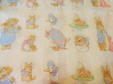 Beatrix Potter fabric, Peter Rabbit Fabric, BY THE PANEL