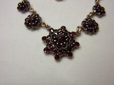 Attualmente verde melograno catena catena Collier Granat necklace double GOLD boemia n. 134