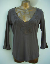 PER UNA M&S Beaded Satin Detail Top SIZE 10 Worn Once IMMACULATE