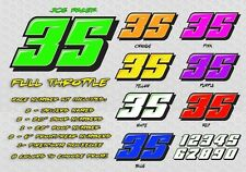 Full Throttle Race Car Numbers Vinyl Decals Late Model, Modified, Street Stock