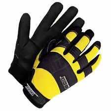 BDG Performance Leather Palm Professional Work Gloves Size X-Large Yellow