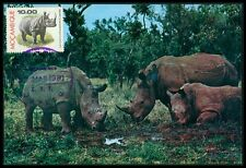 MOCAMBIQUE MK FAUNA NASHORN RHINO MAXIMUMKARTE CARTE MAXIMUM CARD MC CM bi17