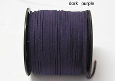 wholesale 10yd 3mm dark purple Suede Leather String Jewelry Making Thread Cords