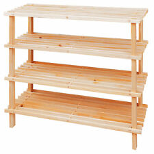 4 Tiers Wooden Shoes Organisers Storage Rack Shelves Shelf Bookcase Bookshelves
