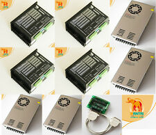 【USA Ship& EU Free】4PCS Stepper Motor Driver DQ860MA,7.8A,80V & 4 Powers 3D CNC