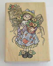 GARDEN ANGEL Rubber Stamp Large Love Buds Flowers New With Mark on Side 1999