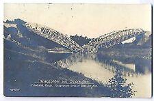 G 17 - Friedland / Ostpreussen, 1. WK, gesprengte Brücke, 1916 gelaufen