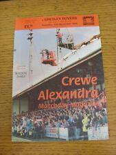 12/11/1994 Crewe Alexandra V Gresley Rovers [FA Cup]. este artículo ha sido Inspec
