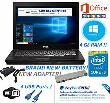 DELL LAPTOP LATITUDE WINDOWS 10 CORE i5 OFFICE 2013 DVDRW WIFI COMPUTER HD PC