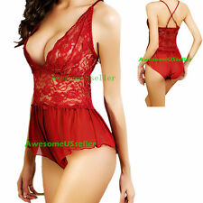 Hot&Sexy Women's Lingerie Dress G-string Underwear Babydoll Sleepwear Nightwear