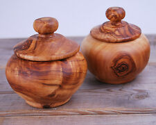 Olive Wood Sugar Bowl / Sugar Pot / Container / Salt Keeper, Candy jar candy box