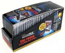 50 ULTRA PRO One Touch Magnetic Holders 100pt UV Gold Magnet New