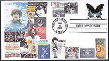 GEORGE HARRISON  THE BEATLES   LIVING IN THE MATERIAL WORLD   FDC- DWc CACHET