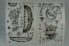 DC Batman Suicide Squad the Joker Full Body Temporary Tattoo Stickers Waterproof