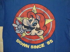 "Nintendo Super Mario ""Down Since '85"" Classic Video Game Blue T Shirt M"