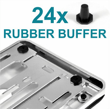 24x ​RUBBER BUFFER for Chrome Number Plate Holders Surrounds Bumper Protector