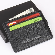 NISMO Nissan Slim Wallet Genuine Cow Leather Men Purse Mini Credit Card Holder