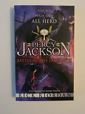 Percy Jackson and the Battle if the Labyrinth Uncorrected Proof