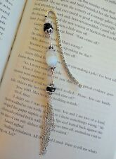 Handcrafted Beaded Black & White Bookmark ~ Holiday Gift Idea
