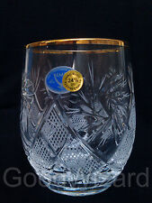 Russian European Cut Crystal Glasses 7oz (200 ml)..Scotch,whisky,tonic set of 6