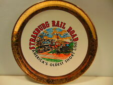 souvenir collector plate with gold border: Strasburg Rail Road, Lancaster, PA