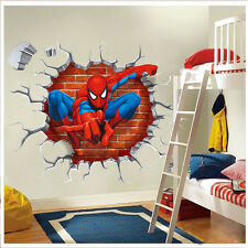 3D Spider man kids room decor boy gift Wall sticker wall decals wallpaper UK