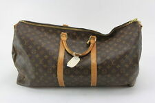 VINTAGE LOUIS VUITTON CANVAS/LEATHER TRIM DUFFEL LARGE GYM BAG – BROWN MONOGRAM