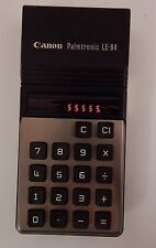 Vintage Canon Palmtronic LE-84 Calculator Made in Japan Red Display