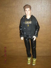 "Justin Bieber -  Rare 12"" Justin Bieber Doll - Believe Tour - Singing Doll"
