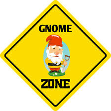 """*Aluminum* Gnome Zone Funny Metal Novelty Sign 12""""x12"""""""