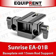 SUNRISE EA-01B Rig Baseplate mit Stativanschluss und 15mm Rod Support (EQ066)
