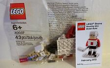 New Lego HOCKEY PLAYER February 2012 Monthly Mini Model Build 40037 with Card