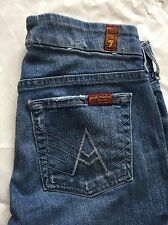7 Seven For All Mankind 24 'A' Pocket Stretch Distressed Bootcut  Blue Jeans