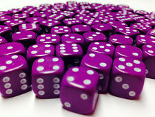 Hobby Marine Space Chaos MTG Wargames BNIB 12mm Opaque Purple Dice D6 x 50