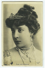 c 1902 French Theater OLGA NETHERSOLE early photo postcard