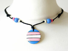 Transgender Necklace Pendant Pride Flag ftm mtf Trans Symbol Gift Wooden Jewelry